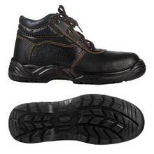 Ботинки рабочие комбинированные (юфть+кирза) СМ демисезон мягкий кант ПУ литая подошва черные