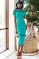 Стильное женское бирюзовое платье Размарин Jadone Fashion 42-50 размеры