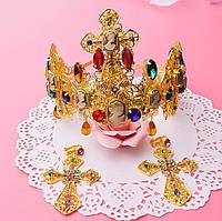 Корона тиара вечерняя диадема и серьги набор Зара в стиле Dolce&Gabbana Тиара Виктория