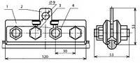 Зажим стыковой контактного провода - КС-059-6 (КС-321-1)