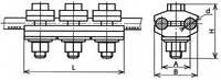 Зажим петлевой для проводов А-35; А-50; А-70; АС-35; АС-50, КС-071