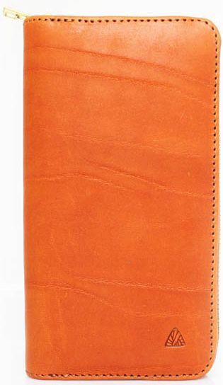 Женский яркий кошелек из натуральной кожи Mykhail Ikhtyar (МИХАИЛ ИХТЯР) 6711 оранжевый