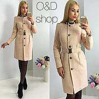 Кашемировое пальто с поясом л-270035