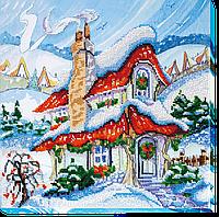 Набор для вышивания бисером на художественном холсте Сказочная зима-2