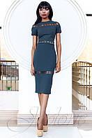 Стильное женское серое платье Размарин Jadone Fashion 42-50 размеры