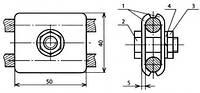 Зажим плашечный заземляющего провода - КС-066