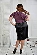 Женская нарядная блуза больших размеров 0430 цвет слива размер 42-74, фото 4