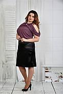 Женская нарядная блуза больших размеров 0430 цвет слива размер 42-74, фото 2