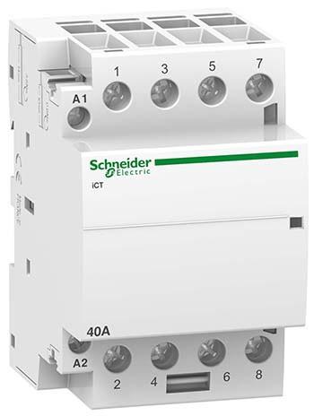 Контактор модульный Schneider Electric 40A, 4NO, 220В, 3м
