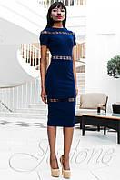 Стильное женское темно-синее платье Размарин Jadone Fashion 42-50 размеры