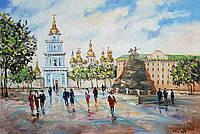 «Виды Киева. София» в раме картина маслом