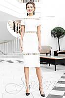 Стильное женское молочное платье Размарин Jadone Fashion 42-50 размеры