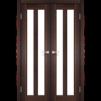 Дверь TORINO  TR-05. Со стеклом сатин (орех,дуб беленый,дуб грей,венге,дуб марсала). KORFAD