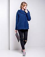Молодежное короткое пальто из итальянской шерсти u-alb02112