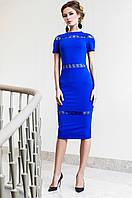 Стильное женское платье Размарин электрик Jadone Fashion 42-50 размеры