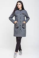 """Пальто женское """"Нью-Йорк"""" серое, осень-весна"""