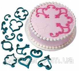 Оттиск, трафарет кондитерский для тортов, десертов Вензеля