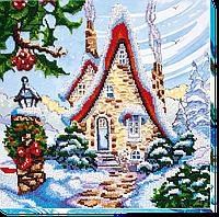 Набор для вышивания бисером на художественном холсте Сказочная зима-1