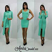 Яркое платье-двойка в расцветках f-5032177