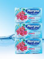 Туалетное мыло вишни и молока 125г Maryna