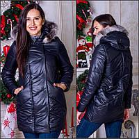 Зимняя женская куртка с натуральным мехом о-501166