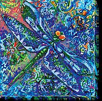 Набор для вышивания бисером на художественном холсте Бирюза