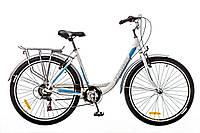 """Велосипед 26"""" Optimabikes VISION 14G Vbr Al с багажн. бело-синий (м) 2016"""