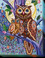 Набор для вышивания бисером на художественном холсте Оттенки полночи