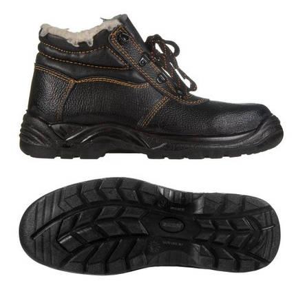 Ботинки рабочие (юфть+кирза) СМ Зима Мех мягкий кант ПУ литая подошва черные, фото 2