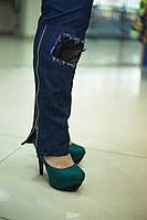 Женские джинсы Корона больших размеров а-1015963