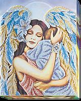 Набор для вышивания бисером на художественном холсте Радость материнства