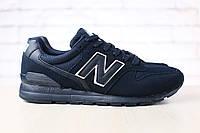 Мужские замшевые кроссовки New Balanсe 996 темно-синие