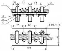 Зажим стыковой стальных тросов - КС-079
