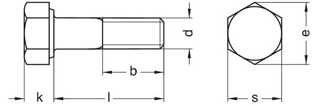 Болты М3 5.8 ГОСТ 7805-70, DIN 931, DIN 933 | Размеры, длина, вес, фото 3