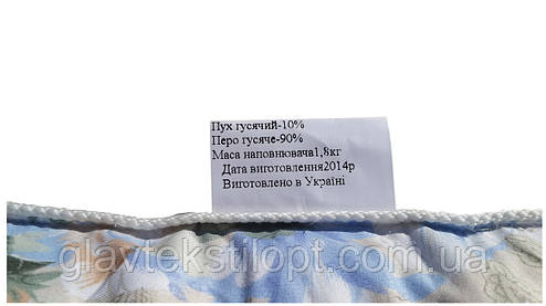 Подушка пух-перо 70*70 (10% - пух; 90% - перо), фото 2