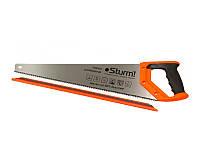 Ножовка по дереву 500 мм средний каленый зуб, 7 з/д, 3D Sturm (2100103)