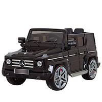 Детский электромобиль джип Mercedes G55EBLRS-2 AMG колеса EVA, лицензия, автопокраска,черный