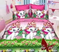 Комплект постельного белья полуторный ТМ Таg Кошка Мэри