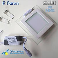 Встраиваемый светодиодный светильник Feron AL2111 LED панель 6W, 5000К(Нейтральный)