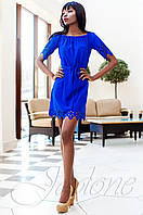 Модное платье-туника Кения электрик Jadone Fashion 42-50 размеры