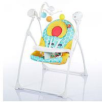 Детская качель для новорожденных M 1540-02 с электроприводом
