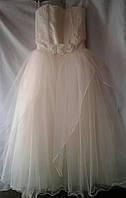 Детское нарядное платье  9-10 лет,кремовое