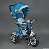 Детский трехколесный велосипед Best Trike 5688 голубой поворотное сидение