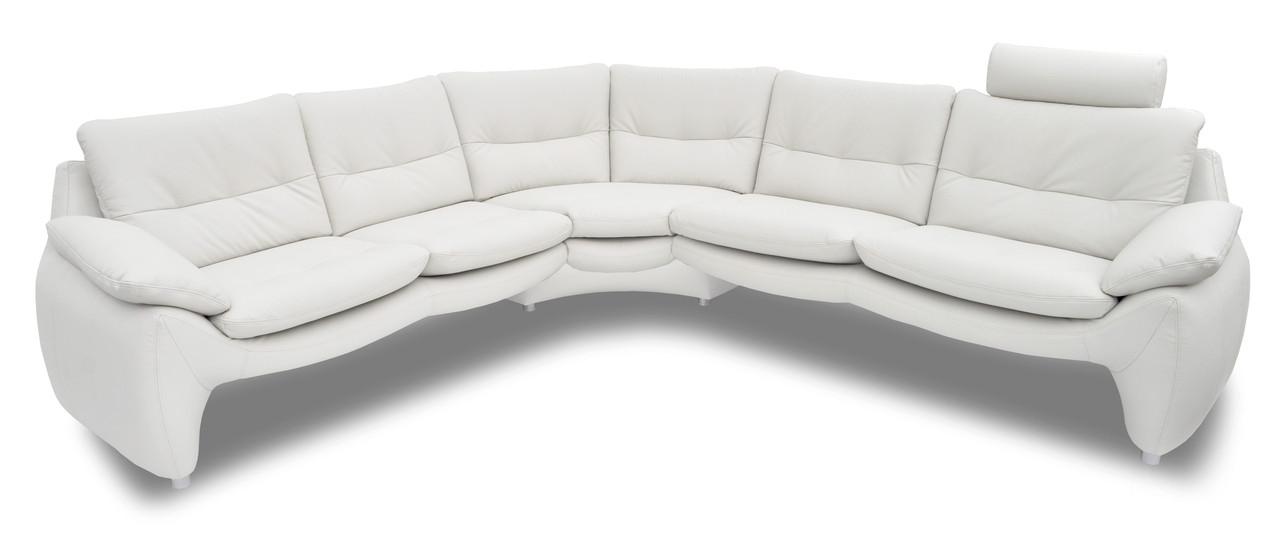 Стильный модульный диван в коже MV 07 (290*273 см)