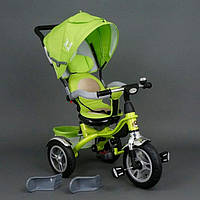 Детский трехколесный велосипед Best Trike 5688 салатовый Поворотное сидение