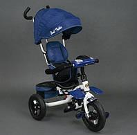 Детский трехколесный велосипед Best Trike 6699 Blue поворотное сидение