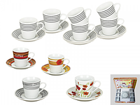 Сервиз кофейный 12 предметов Микс 2 SNT 145