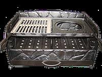 """Чугунный мангал """"Камешки"""" 635х430х300, 12 мм."""