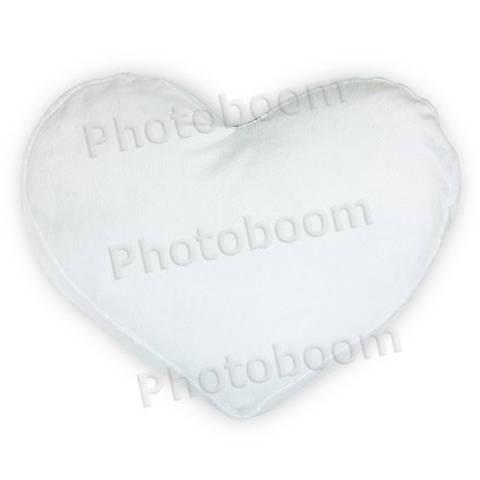 """Подушка для сублимации в форме """"Сердце"""", плюшевая"""