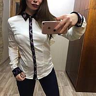 Эксклюзивная женская рубашка с вышивкой ручной работы